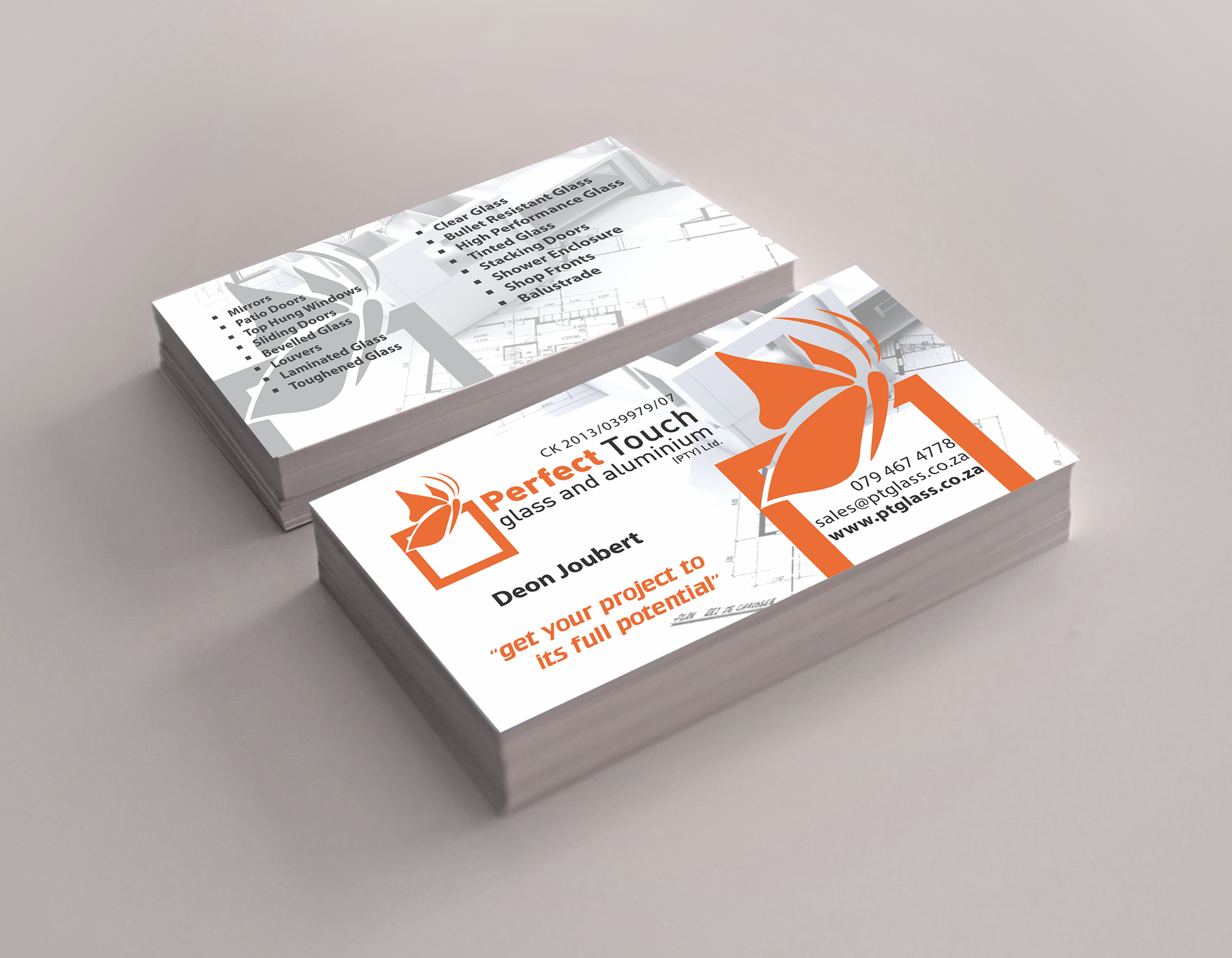 Perfect touch glass web merchants business card design magicingreecefo Gallery